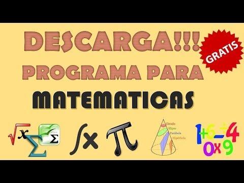 Descargar un programa para hacer ejercicios matemáticos
