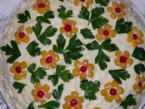Фото украшения салатов своими руками