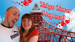 Tokyo Tower Marriage Proposal