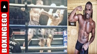 BRIT ACTOR IDRIS ELBA WINS BY KNOCKOUT 1ST EVER KICKBOXING MATCH (Boxingego)