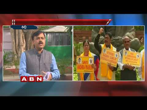 BJP Leader GVL Narasimha Rao Opposes TDP MPs Protest at Parliament