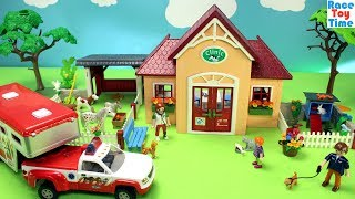 Playmobil Animals Clinic Playset Build and Play Toys For Kids