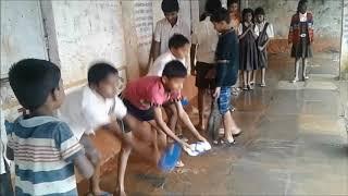 Gavadewadi ZP School Children16 7 2018 Playing with joy in the water