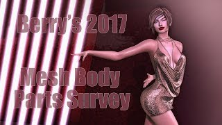 Berry's 2017 Mesh Body Parts Survey in Second Life