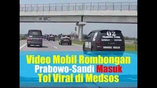 Viral Video Mobil Rombongan Prabowo Sandi Masuk Tol, Partai Gerindra Beri Tanggapan
