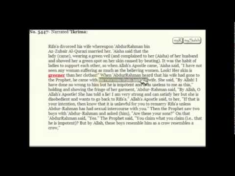 Wife Beating and Divorce story - Sahih Al Bukhari hadith explained