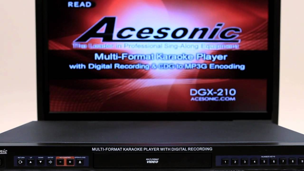Acesonic Karaoke Cable : Acesonic dgx multi format karaoke player with mp g