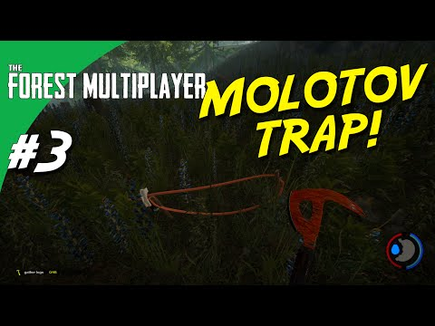 The Forest Multiplayer dansk - Ep 3 - MOLOTOV TRAP!