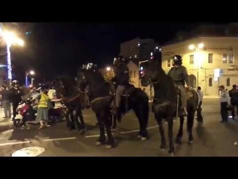 INITIAL VIDEO: Ethiopian Protest in Jerusalem Turns Violent