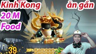 ✔️ Kinh Kong Max 40  ăn gần  20 M Food Heroic Dragon City HNT chơi game Nông Trại Rồng HNT Channel