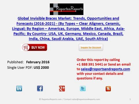 Global Invisible Braces Market Trends, Opportunities and Forecasts 2016 2021