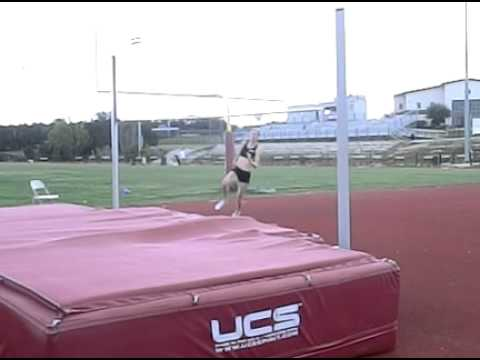 Amy Acuff practicing for her 5th Olympics