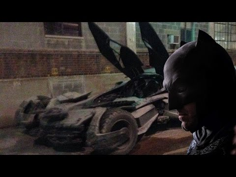 Batmobile Spotted On Batman v Superman Set