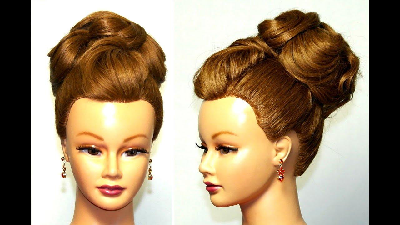 Причёски на средние волосы бабетта фото