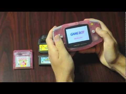 Backlit OG Gameboy Advance (agb-001. agb-101 and more comparison video)