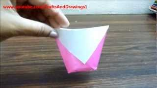How To Make A Paper Cup (origami) Very Easily....