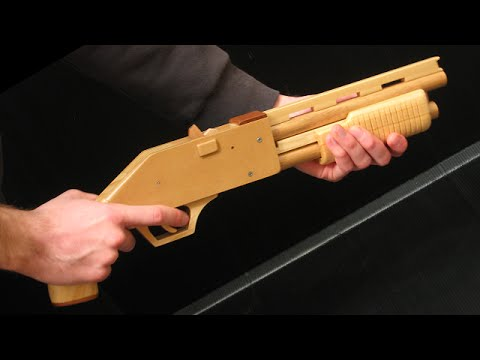 [rubber band gun] pump-action shotgun