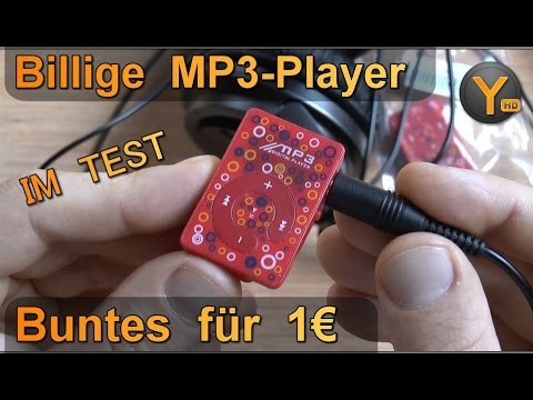Billig MP3-Player im Test: Versch. bunte Player für 1€ / microSD bis 8GB / WMA MP3 WAV