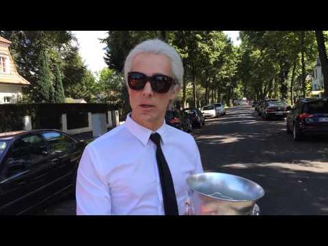 Karl Lagerfeld - Ice Bucket Challenge (Oliver Pocher)