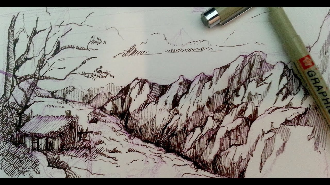Drawing Rivers Tutorial Pen And Ink Drawing Tutorials
