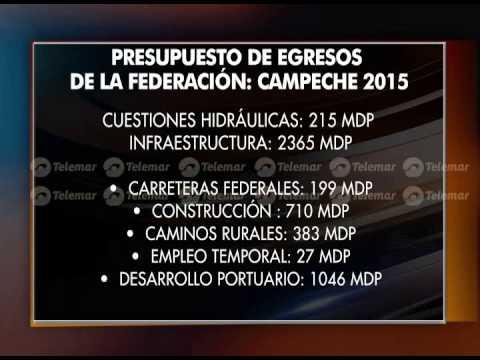 Campeche aspira a más de 3 mil millones de pesos del PEF 2015 TN 23 09 14 2