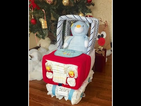 Diaper Cake Jeep 4x4 Truck (Tutorial)