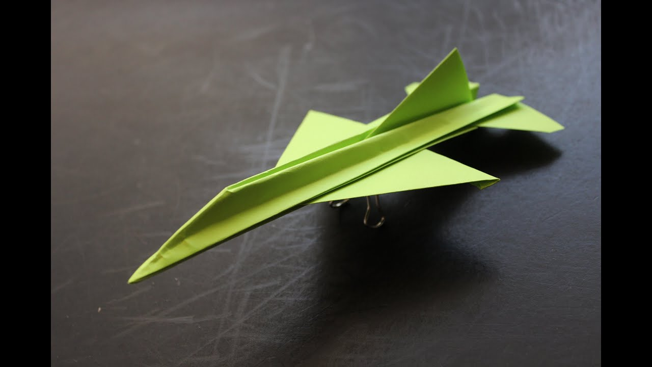 How To Make a Jet Fighter Paper Airplane Model  Fold N