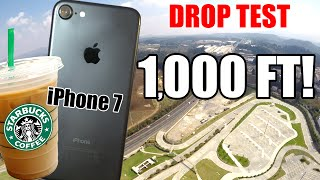 iPhone 7 Drop Test from 1000 Feet!! Inside a Starbucks Cup! | Did it survive?