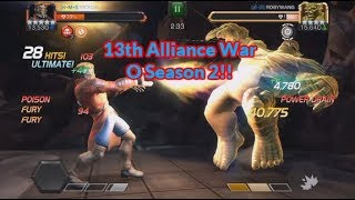 13th Alliance War Of Season 2 Versus ??? | Marvel Contest Of Champions