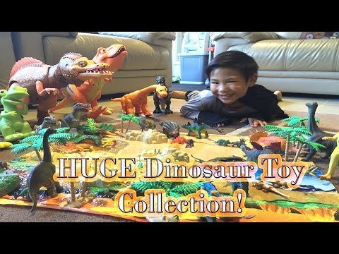 Batman and his HUGE DINOSAUR Collection! UNBOXING of Mighty Megasaur Walking T-REX