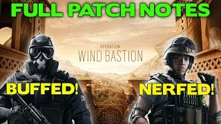 Operation Wind Bastion Full Patch Notes    Mute Buffed! Lesion Nerfed!