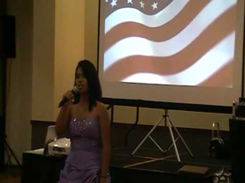 Martha sings the Star Spangled Banner