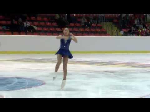 2015 ISU Jr. Grand Prix - Linz Ladies Short Program Mai MIHARA JPN