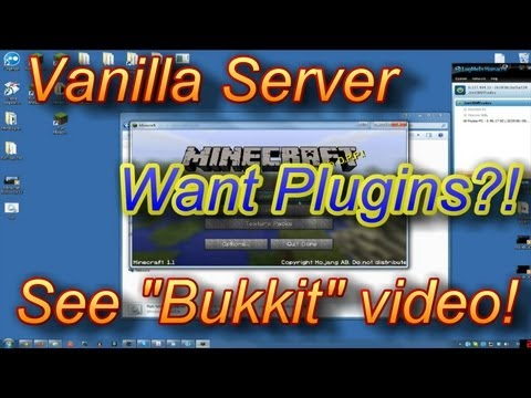 How To Setup a Minecraft Server Any Version 1.7.5 1.6.4 Hamachi Tutorial No Port