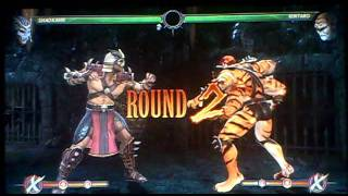 Mortal Kombat 2011 Shao Kahn vs Kintaro (babality) MK9