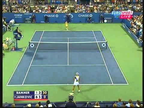 Jエレナ ヤンコビッチ vs Sybille Bammer 全米オープン ハイライト