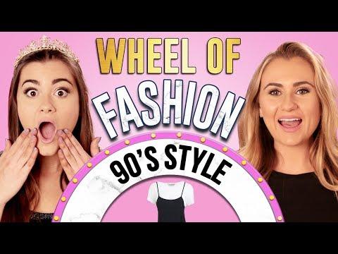 90s STYLE CHALLENGE?! Wheel of Fashion w/ Cloe Couture & Mia Feldman