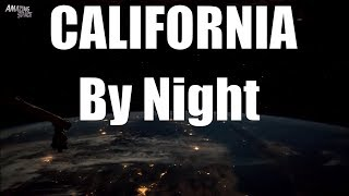 California by night - Earth from space seen from the ISS / California to Peru