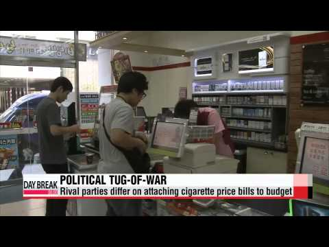Rival parties differ on attaching cigarette price bills to budget   심사기한 일주일...담