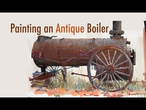 Painting an Antique Boiler