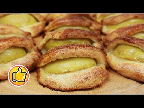 Творожные Сочники (Пирожки) с Яблоками   Buns with Apples
