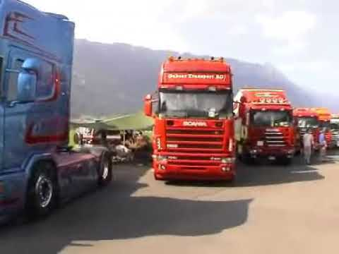 Truckerfestival 2006 in Switzerland 1560 trucks line up !!!
