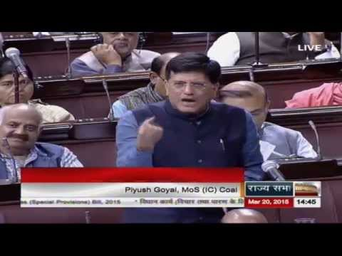 Sh. Piyush Goyal moving The Coal Mines (Special Provisions) Bill, 2015