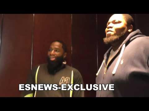 "ADRIEN BRONER on Floyd Mayweather Beef - """"that's my boy"" - EsNews Boxing"