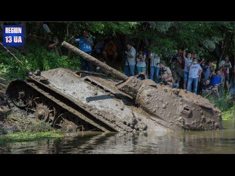 В Воронежской области со дна реки Дон подняли чудом уцелевший уникальный танк Т-34