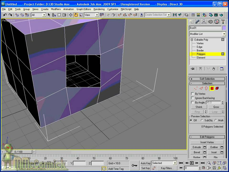 3ds max intro to editable polygon object youtube for 3d object editor