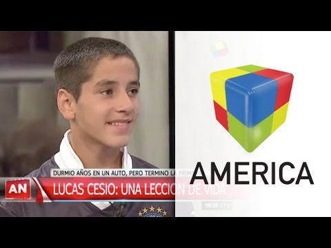 Lucas Cesio, el chico que vivió cinco años en un auto y pudo terminar la primaria