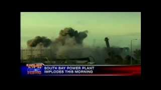 Dynegy power plant blown up in southern California.