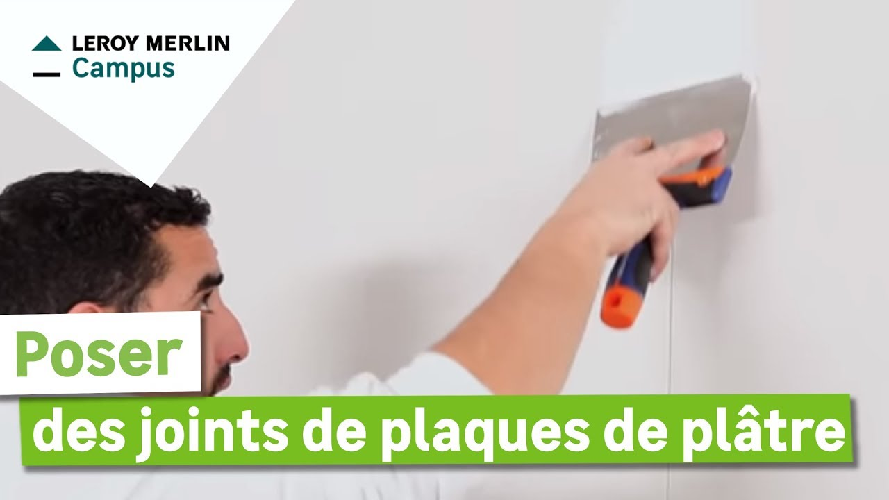 Comment poser des joints de plaques de pl tre leroy merlin youtube - Plaques polycarbonate leroy merlin ...