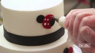 How to Create a Lady Bug 2-Tier Cake